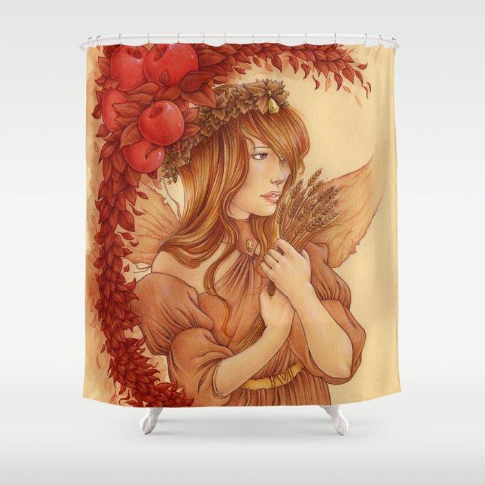 Hada de otoño Shower Curtain