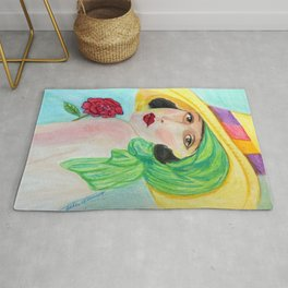 Lady With The Yellow Hat Rug