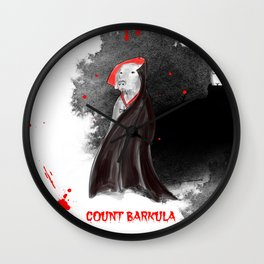 COUNT BARKULA Wall Clock