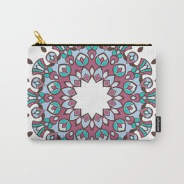 Pinkish Turquoise 12 Mandala Carry-All Pouch