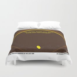 No068 My Raiders Lost A minimal movie poster Duvet Cover