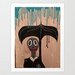 Rainy Day Fwend Art Print