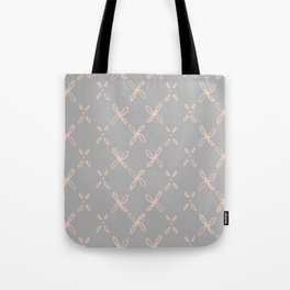 Pink & Gray Abstract Astral Pattern Tote Bag