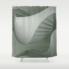 SoundScape 6 in Fog Shower Curtain