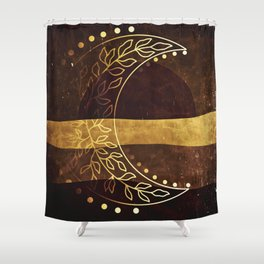 Earth Moon Mama V3 Shower Curtain