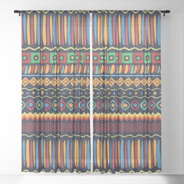 Africa No2 Sheer Curtain