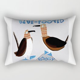 Blue-footed Booby Rectangular Pillow