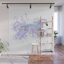 White Horse And Splatters Wall Mural