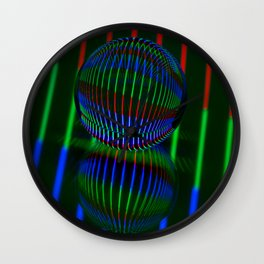 Red,Green, blue in the crystal ball. Wall Clock