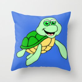 Speedy the Turtle Throw Pillow