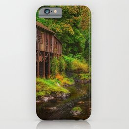 Image Washington USA Trees Cedar Creek Grist Mill  Forests river stone Bush Nature forest Rivers Stones Shrubs iPhone Case