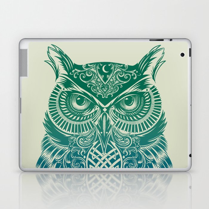 Warrior Owl Laptop & iPad Skin