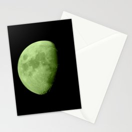 4K Dark Side of the Moon Lime Green Stationery Cards