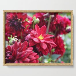 Blooming Red: Imperfectly Perfect Serving Tray