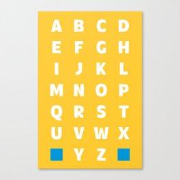 Flatfats Awkwardface Bold UC Canvas Print