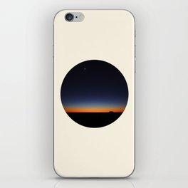 Orange & Blue Sunset Over The Australian Outback Round Photo iPhone Skin