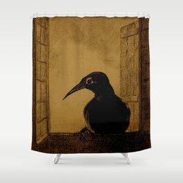 "Odilon Redon ""Le Corbeau (The Crow)"" Shower Curtain"