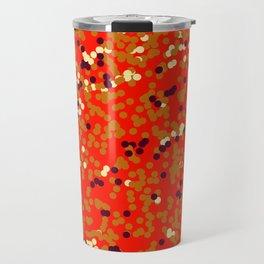 dots on red Travel Mug