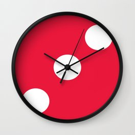 Red Dice 3 Wall Clock