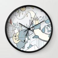milk Wall Clocks featuring Milk by Anna Savva