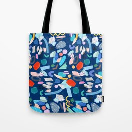 """Save The Earth"" Colourful Contemporary Art Tote Bag"