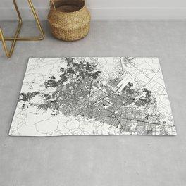 Bogota White Map Rug