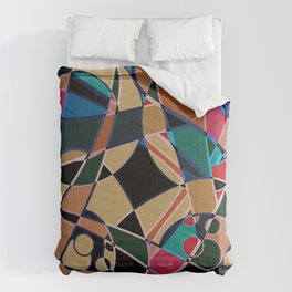 Abstraction. Curves and bends. Comforters