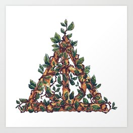 Overgrown Deathly Hallows Art Print