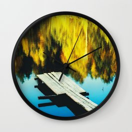 Autumn Pool, Clor Film Photo, Analog Wall Clock