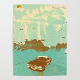 LONE BLUE ROAD Poster