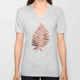 Fern Leaf – Rose Gold Palette Unisex V-Neck