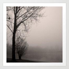 Misty day Art Print