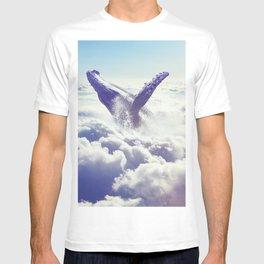Cloudy whale T-shirt