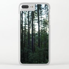 Unfocused in the Forest Clear iPhone Case