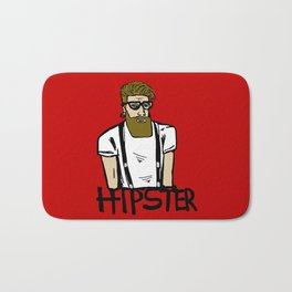 Hipster icon Bath Mat