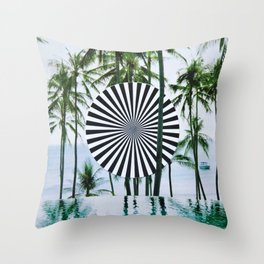 Tropical Trance Throw Pillow