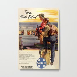 Vintage poster - Gee, that's Eatin' Metal Print