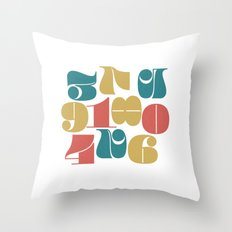 Numerals Throw Pillow