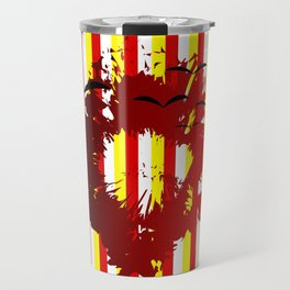 Abstract colorful striped Travel Mug