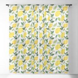 Lemona #illustration #pattern Sheer Curtain