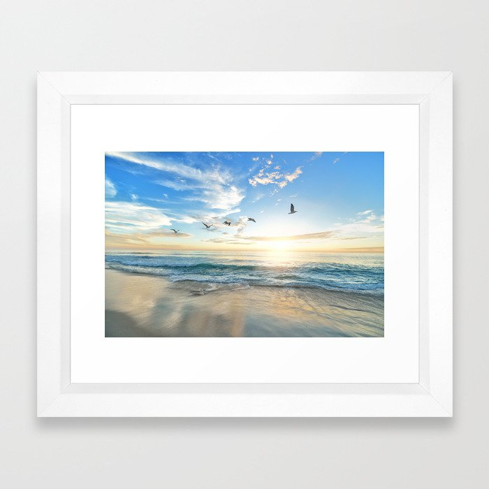 Beach Scene 34 Framed Art Print by nauticaldecor | Society6