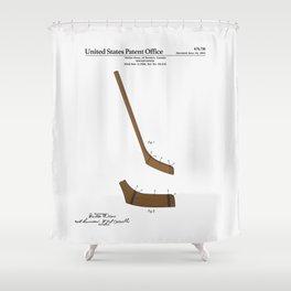 Hockey Stick Patent Shower Curtain