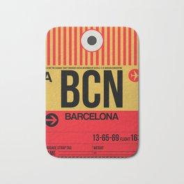 BCN Barcelona Luggage Tag 1 Bath Mat