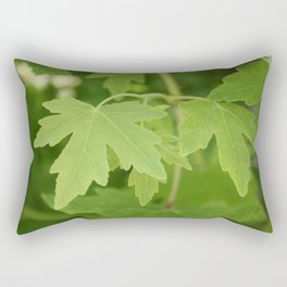 Amber Orientalis Leaves Rectangular Pillow