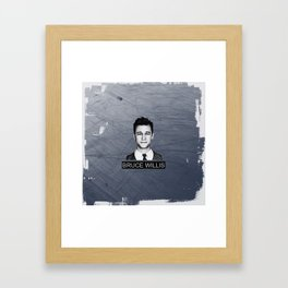 Bruce Willis Framed Art Print
