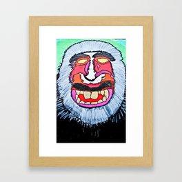 macaques monkey Framed Art Print