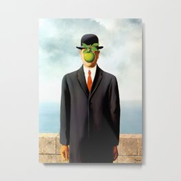 Rene Magritte The Son of Man, 1964 Artwork, Tshirts, Posters, Prints, Bags, Men, Women, Youth Metal Print