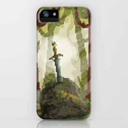 8-Bit Sword In The Stone iPhone Case