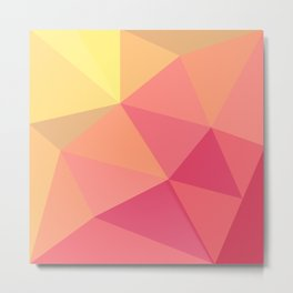 Triangles8 - Sherbert Metal Print