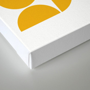 Mid Century Modern Geometric 04 Yellow Canvas Print